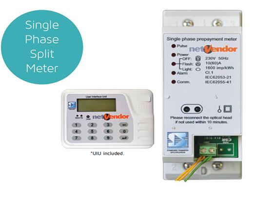 Single Phase Split Meter – nV201 Range – netVendor – Prepaid