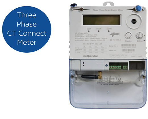 Three Phase CT Connect Meter – nV401 Range – netVendor